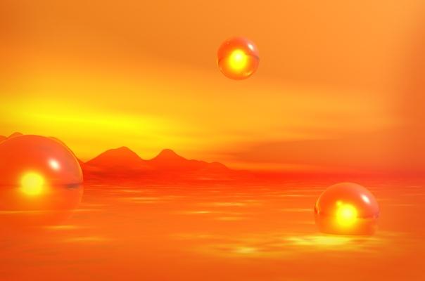 orbes naranjas